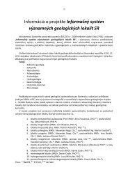 Informácia o projekte Informačný systém významných geologických ...
