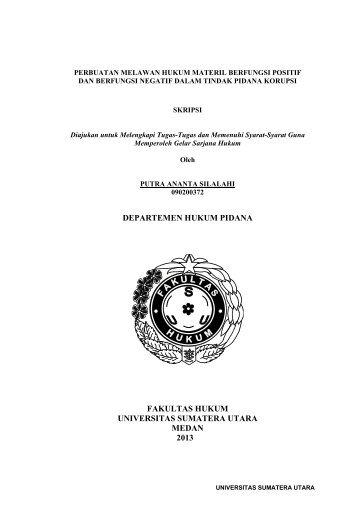departemen hukum pidana fakultas hukum universitas sumatera ...