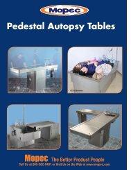 Pedestal Autopsy Tables - Mopec