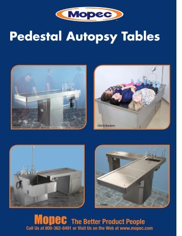 Pedestal Autopsy Tables - Mopec