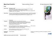 Maxi-Cosi PrioriFix Beoordeling: Goed Kinderzitjestest 2007 - Anwb