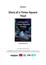 PRESSKIT Diary of a Times Square Thief - Hot Docs