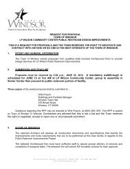 Request for Proposals - Town of Windsor
