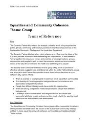 Equalities & Community Cohesion Terms of Reference - Coventry ...