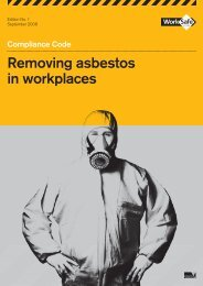 Removing asbestos in workplaces - Compliance ... - WorkSafe Victoria