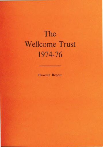 The Wellcome Trust Eleventh Report
