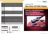 Value Series LCD Public Displays