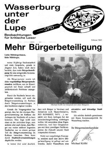Lupe, Februar 2002, Mehr Bürgerbeteiligung - SPD-Wasserburg