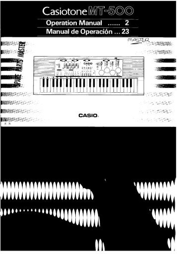 Casio MT-500 User Manual.pdf - Madame Butterface