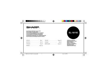 sharp xe a147 full detailed instruction manual