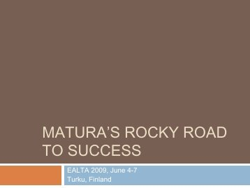 The Rocky Road to Success – Marie Curie