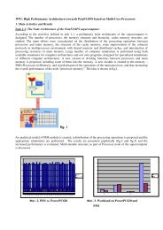 High Performance Architectures towards PetaFLOPS based on Multi ...