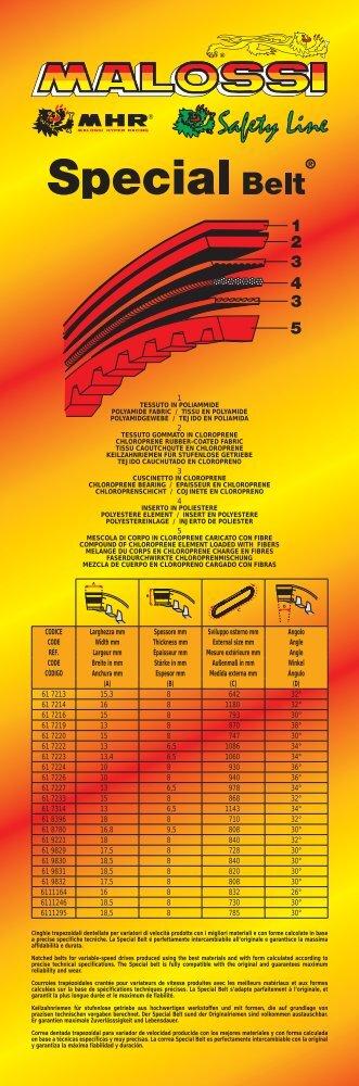 1 2 3 4 5 CODICE Larghezza mm Spessore mm Sviluppo ... - Malossi