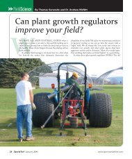 Can plant growth regulators improve your field? - About SportsTurf