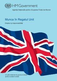 Munca în Regatul Unit: drepturi şi responsabilităţi