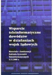 AON - Wydział Zarządzania i Dowodzenia (WARSZAWA ... - TELDAT