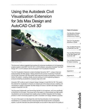 Using the Autodesk Civil Visualization Extension for 3ds Max Design ...