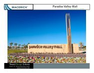 Paradise Valley Mall General Information Criteria - Macerich