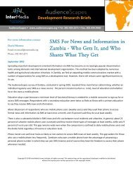 SMS For News and Information in Zambia - Who ... - AudienceScapes