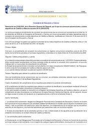 III.- OTRAS DISPOSICIONES Y ACTOS - Federación de Baloncesto ...