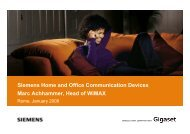 Siemens Home and Office Communication ... - La Tele di Penelope