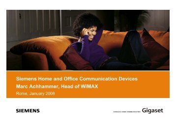 Siemens Home and Office Communication ... - La Tele di Penelope