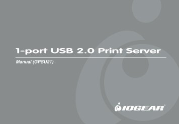 1-port USB 2.0 Print Server - IOGear