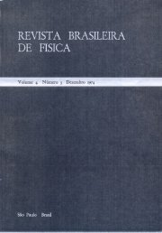 REVISTA BRASILEIRA DE FISICA - Instituto de Física - UFRGS