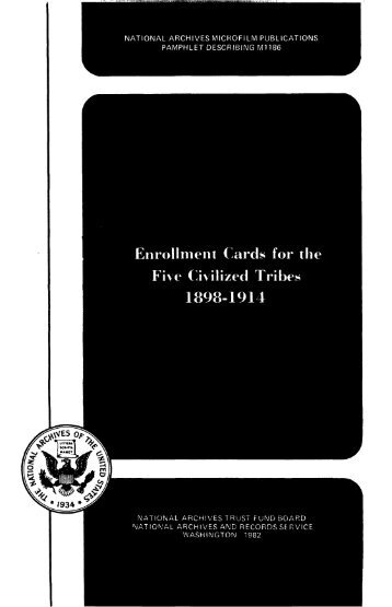Enrollment Cards For The Five Civilized Tribes 1898 1914 Fold3