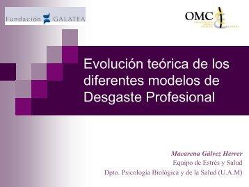 Evolución teórica de los diferentes modelos de Desgaste ... - CGCOM