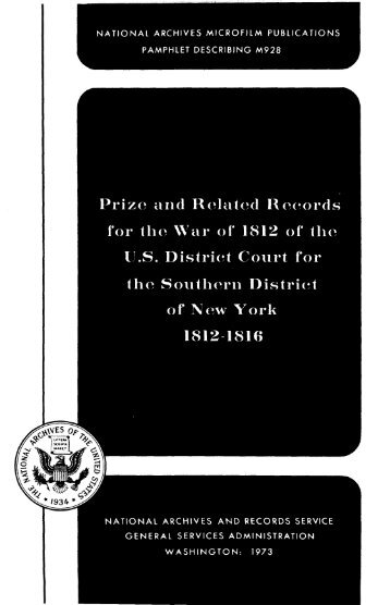 Prize and Related Records US District Court for the Southern ... - Fold3
