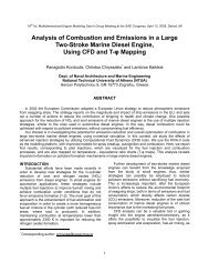 Analysis of Combustion and Emissions in a Large Two-Stroke ...