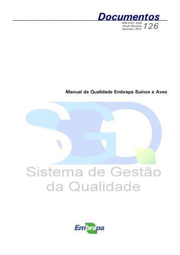 Manual da Qualidade - Embrapa Suínos e Aves