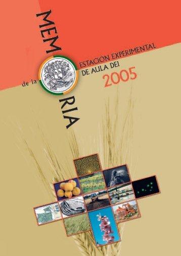 Memoria de la EEAD. 2005 - Estación Experimental de Aula Dei ...