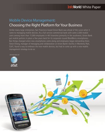 Mobile Device Management: Choosing the Right Platform for ... - AT&T