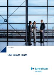 DKB Europa Fonds - BayernInvest Luxembourg S.A.
