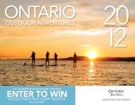 2012 Ontario Outdoor Adventures Calendar