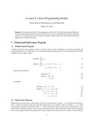 Lecture 8: Linear Programming Duality
