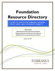 Foundation Resource Directory 2009 - Nebraska Department of ...