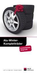 Alu-Winter- Kompletträder - bei der ALD Automotive