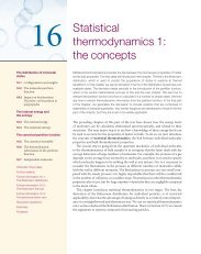 Statistical thermodynamics 1: the concepts - W.H. Freeman