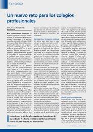Un nuevo reto para los colegios profesionales. Por José Luis Ruiz y ...