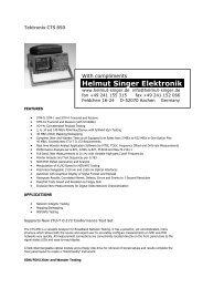 Tektronix CTS 850 - Helmut Singer Elektronik