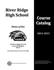 River Ridge High School - North Thurston Public Schools
