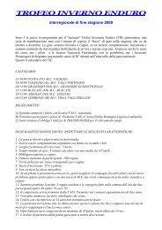 info Trofeo invernale enduro piemontese (11/2009 ... - Motowinners