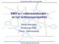 SMV'er i vidensamfundet - LOK forskningscenter - CBS