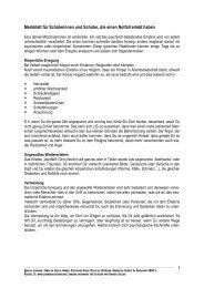 Merkblatt für Schülerinnen und Schüler, die einen Notfall erlebt haben
