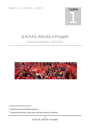 A.N.P.AS. Attività e Progetti - ANPAS Provincia di Modena