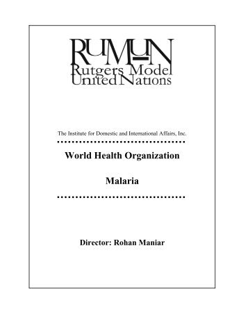 Rutgers Model United Nations - IDIA