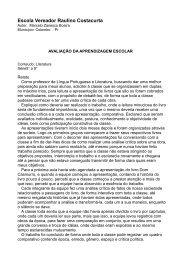 Avaliação da aprendizagem escolar - Portugues.seed.pr.gov.br